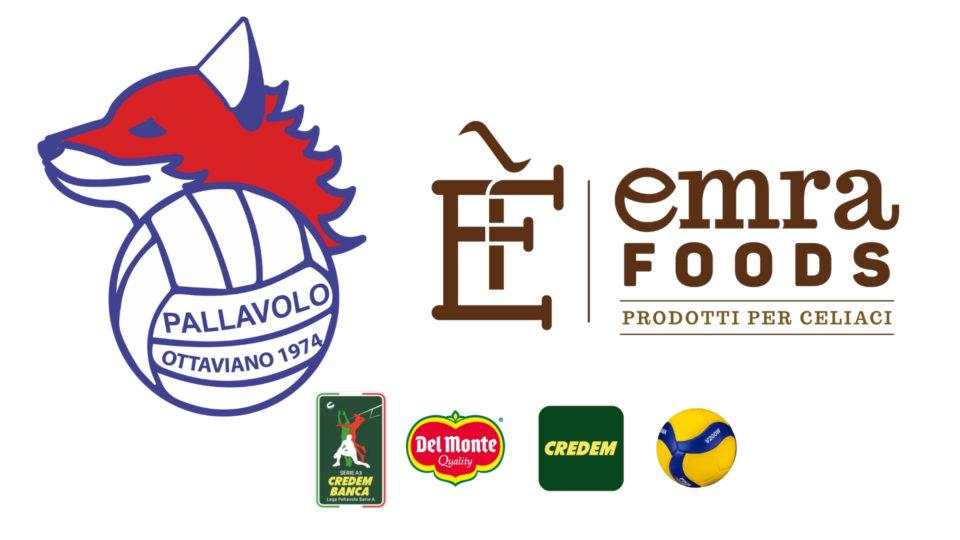 Continua il binomio Gis Pall. Ottaviano e Emra Foods Prodotti per Celiaci anche in Serie A3 Credem Banca
